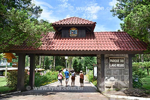 Entrada do Parque do Lago Negro  - Gramado - Rio Grande do Sul (RS) - Brasil