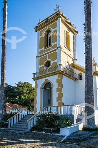 Fachada da Igreja Matriz de Nossa Senhora do Rosário (1750)  - Palhoça - Santa Catarina (SC) - Brasil