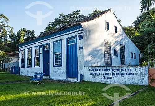 Fachada da Casa da Cultura Açoriana de Palhoça  - Palhoça - Santa Catarina (SC) - Brasil