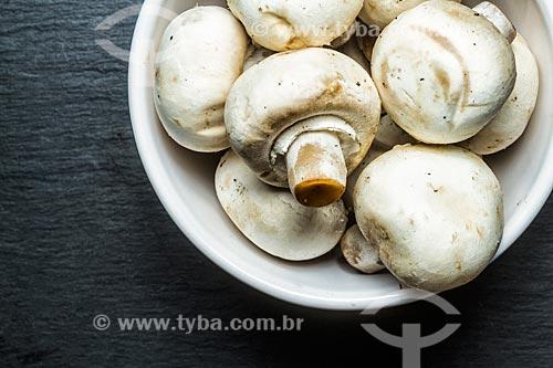 Detalhe de champignon (Agaricus bisporus)  - Brasil