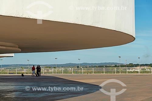Detalhe do Museu de Arte Contemporânea (2006) - parte do Centro Cultural Oscar Niemeyer  - Goiânia - Goiás (GO) - Brasil