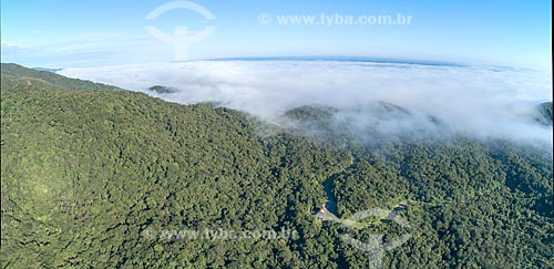 Foto aérea da Estrada da Graciosa (PR-410)  - Morretes - Paraná (PR) - Brasil