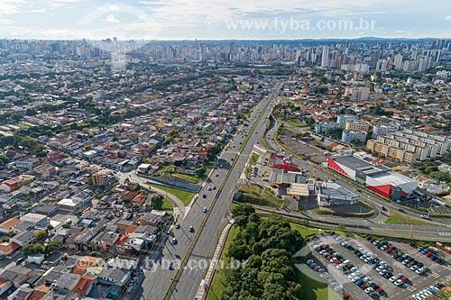 Foto aérea da Avenida Comendador Franco  - Curitiba - Paraná (PR) - Brasil