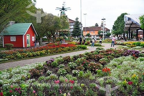 Vista da Praça das Flores  - Nova Petrópolis - Rio Grande do Sul (RS) - Brasil