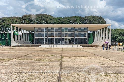 Fachada do Supremo Tribunal Federal - sede do Poder Judiciário  - Brasília - Distrito Federal (DF) - Brasil