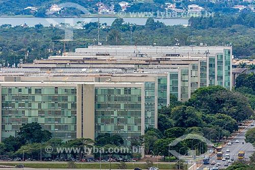 Vista do eixo monumental com a Esplanada dos Ministérios  - Brasília - Distrito Federal (DF) - Brasil