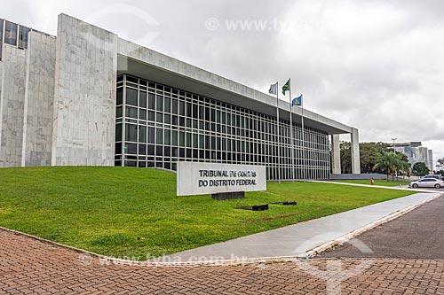 Fachada da sede do Tribunal de Contas do Distrito Federal (TCE-DF)  - Brasília - Distrito Federal (DF) - Brasil