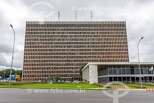 Fachada do Palácio do Buriti (1969)  - Brasília - Distrito Federal (DF) - Brasil