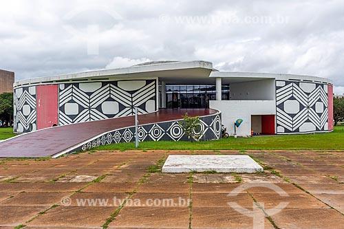 Fachada do Memorial dos Povos Indígenas (1987)  - Brasília - Distrito Federal (DF) - Brasil