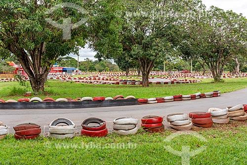 Trecho de kartódromo no Parque da Cidade Dona Sarah Kubitschek - mais conhecido como Parque da Cidade  - Brasília - Distrito Federal (DF) - Brasil