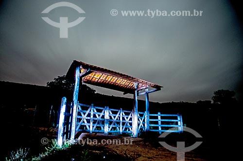 Entrada de fazenda na Chapada Diamantina à noite  - Jacobina - Bahia (BA) - Brasil