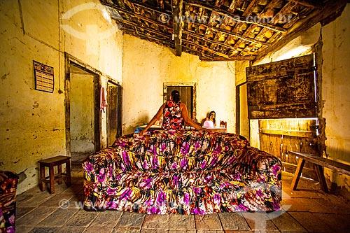 Interior de casa simples na cidade de Jacobina  - Jacobina - Bahia (BA) - Brasil