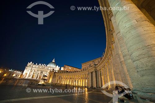Vista da Piazza San Pietro (Praça de São Pedro)  - Cidade do Vaticano - Província de Roma - Itália