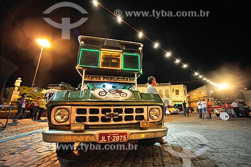 Detalhe de carro de som na cidade de Jacobina  - Jacobina - Bahia (BA) - Brasil