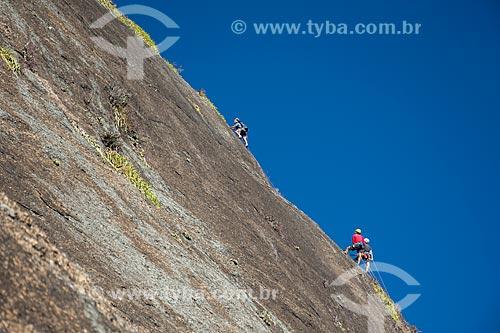 Escalada em rocha na trilha do Morro da Babilônia  - Rio de Janeiro - Rio de Janeiro (RJ) - Brasil
