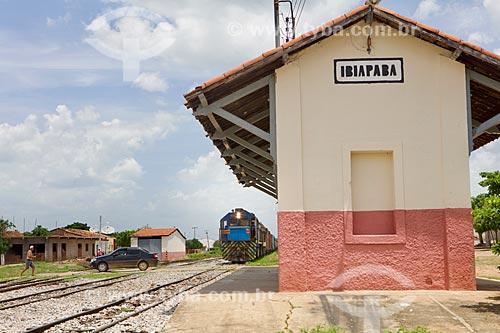 Vista da estação ferroviária do distrito de Ibiapaba  - Crateús - Ceará (CE) - Brasil