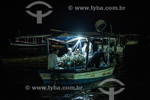 Procissão marítima durante a festa de Yemanjá em Salvador  - Salvador - Bahia (BA) - Brasil