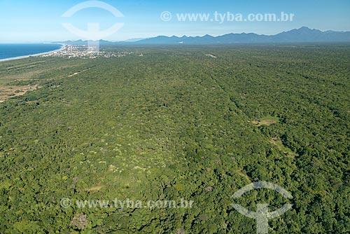 Foto aérea de área de restinga  - Pontal do Paraná - Paraná (PR) - Brasil