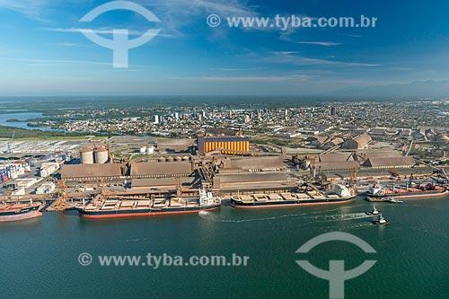 Foto aérea do Porto de Paranaguá  - Paranaguá - Paraná (PR) - Brasil