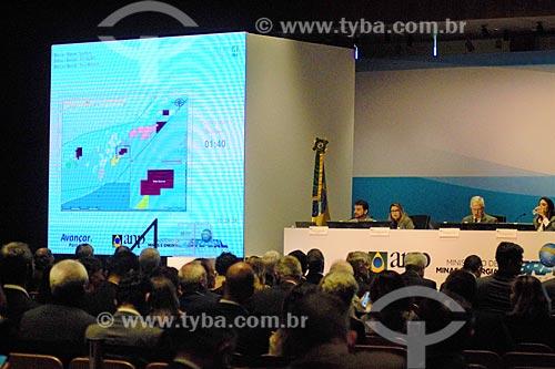 Apresentação do Bloco Três Marias durante o leilão da 4ª rodada de partilha da produção do Pré-sal  - Rio de Janeiro - Rio de Janeiro (RJ) - Brasil
