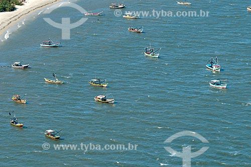 Foto aérea de pesqueiros na Vila do Superagüi - Parque Nacional de Superagüi  - Guaraqueçaba - Paraná (PR) - Brasil