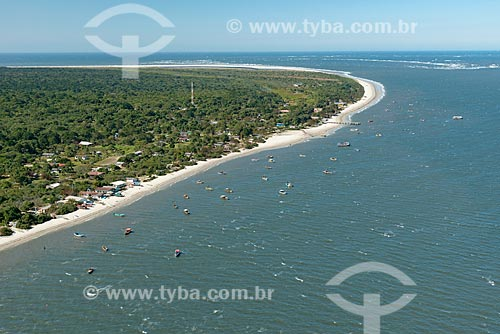 Foto aérea da Vila do Superagüi no Parque Nacional de Superagüi  - Guaraqueçaba - Paraná (PR) - Brasil