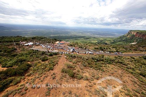 Foto aérea do Mirante do Gritador  - Pedro II - Piauí (PI) - Brasil