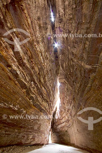 Interior da Gruta Riacho dos Bois no Parque Nacional Serra das Confusões  - Caracol - Piauí (PI) - Brasil