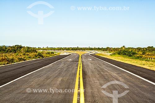 Trecho do novo acesso ao terminal de passageiros do Aeroporto Internacional de Florianópolis - Hercílio Luz  - Florianópolis - Santa Catarina (SC) - Brasil