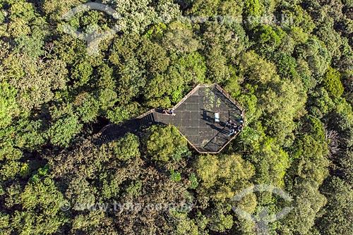 Foto feita com drone do mirante do Parque Passaúna (1991)  - Curitiba - Paraná (PR) - Brasil
