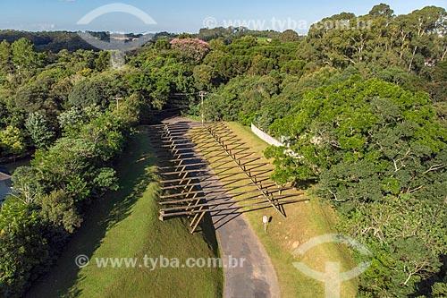 Foto feita com drone do Parque Passaúna (1991)  - Curitiba - Paraná (PR) - Brasil