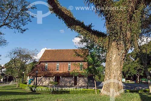 Fachada lateral do Oratório Bach no Bosque Alemão  - Curitiba - Paraná (PR) - Brasil