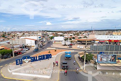 Foto feita com drone da cidade de Salgueiro  - Salgueiro - Pernambuco (PE) - Brasil