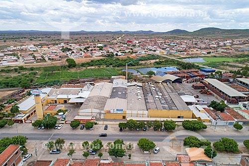 Foto feita com drone da fábrica de doces Tambaú  - Custódia - Pernambuco (PE) - Brasil