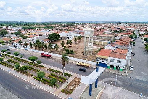 Foto feita com drone da Caixa dágua da COMPESA (Companhia Pernambucana de Saneamento)  - Cabrobó - Pernambuco (PE) - Brasil