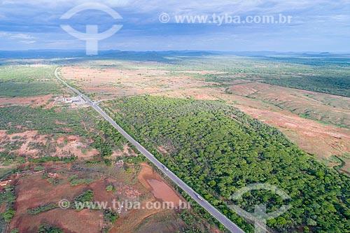 Foto feita com drone da trecho da Rodovia BR-232  - São José do Belmonte - Pernambuco (PE) - Brasil