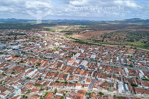 Foto feita com drone da cidade de Monteiro com a Igreja de Nossa Senhora das Dores  - Monteiro - Paraíba (PB) - Brasil