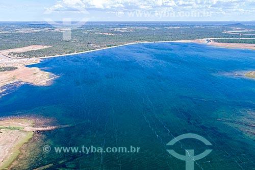 Foto feita com drone do Reservatório Tucutú - parte do Projeto de Integração do Rio São Francisco com as bacias hidrográficas do Nordeste Setentrional - eixo leste  - Cabrobó - Pernambuco (PE) - Brasil