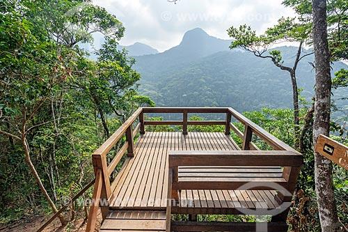 Vista do Mirante da Cascatinha no Parque Nacional da Tijuca  - Rio de Janeiro - Rio de Janeiro (RJ) - Brasil