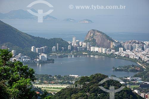 Vista da Lagoa Rodrigo de Freitas a partir do Mirante da Vista Chinesa  - Rio de Janeiro - Rio de Janeiro (RJ) - Brasil