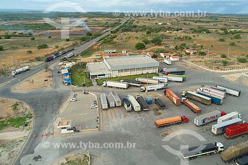 Foto feita com drone do Posto Fiscal de Penaforte na Rodovia BR-116  - Penaforte - Ceará (CE) - Brasil