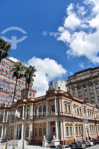 Fachada do Paço Municipal de Porto Alegre (1901)  - Porto Alegre - Rio Grande do Sul (RS) - Brasil