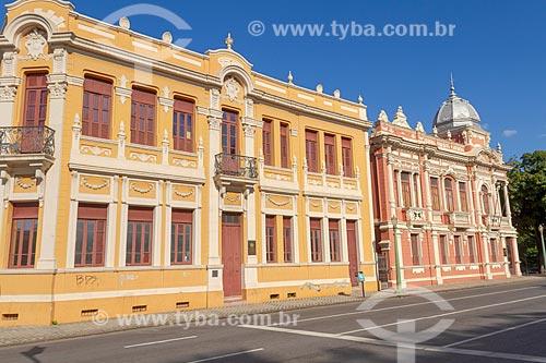 Fachada do Palacete Dantas (1915) e Solar Narbona (1911) - hoje abrigam o Centro Cultura Oi Futuro BH  - Belo Horizonte - Minas Gerais (MG) - Brasil