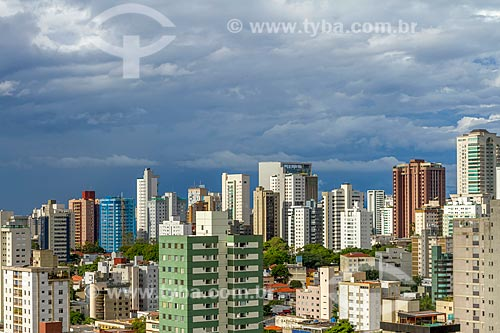 Vista geral do entardecer na cidade de Belo Horizonte  - Belo Horizonte - Minas Gerais (MG) - Brasil