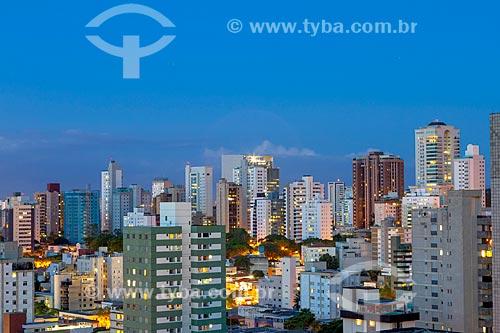 Vista geral do anoitecer na cidade de Belo Horizonte  - Belo Horizonte - Minas Gerais (MG) - Brasil