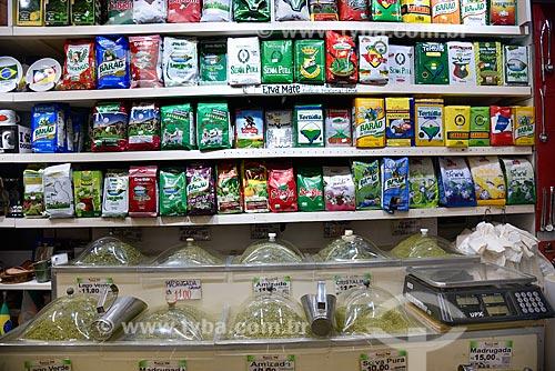 Produtos regionais à venda no Mercado Público de Porto Alegre  - Porto Alegre - Rio Grande do Sul (RS) - Brasil
