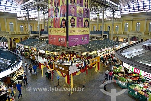 Interior do Mercado Público de Porto Alegre (1869)  - Porto Alegre - Rio Grande do Sul (RS) - Brasil