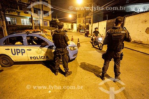 Policiamento no acesso ao Morro da Coroa e Morro da Mineira  - Rio de Janeiro - Rio de Janeiro (RJ) - Brasil