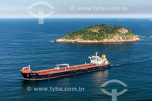 Navio petroleiro na Baía de Guanabara  - Rio de Janeiro - Rio de Janeiro (RJ) - Brasil
