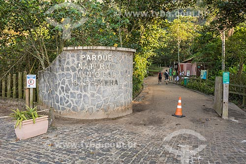 Entrada do Parque Natural Municipal da Prainha  - Rio de Janeiro - Rio de Janeiro (RJ) - Brasil